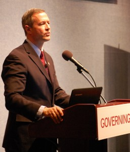 Maryland Gov. Martin O'Malley addresses a governing conference