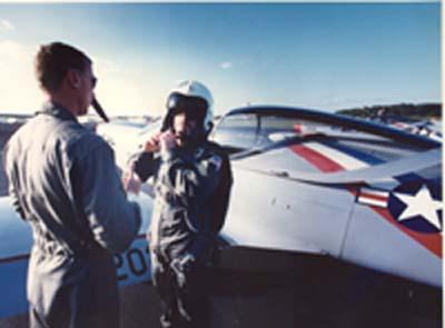 Boyle preparing for fighter jet games, Maryland, 1990By Ruth Fremson