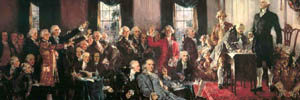 Painting of the signing of the U.S. Constitution by Howard Chandler Christy (1873-1952)