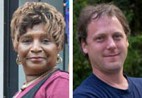 Hyattsville City Council candidates Shirley Bender and Timothy Hunt