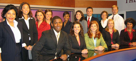TV news crew, fall '06 / Newsline photo by Melissa Pachikara