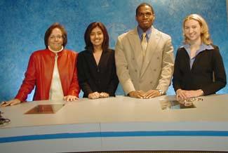 The online news bureau crew, spring 2001