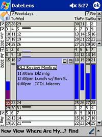 A screenshot of DateLens / Photo courtesy http://www.cs.umd.edu/hcil/datelens/