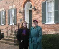 University archivists Elizabeth McAllister and Anne Turkos at the Rossborough Inn. / Newsline photo by Alan J. McCombs