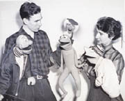Jim Henson and Jane Nebel in 1957. (Courtesy the Hearst Corp.)