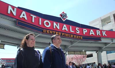 Mass celebrants stream in to Nationals Park in Washington to hear the pope on his historic visit. / Newsline photo by Tamra Tomlinson