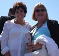 Daria Lowe and Mary Perlmutter/ Newsline photo by Tamra Tomlinson