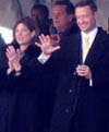 Gov. Martin O'Malley and his wife on inaugural day. / Newsline photo by Diego Mantilla