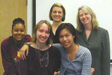 Multimedia students, Spring 2004, with Editor Chris Harvey / (Photo by Clint Bucco)