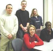 Multimedia students, Spring 2003 / (Photo by Chris Harvey)
