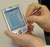 DateLens fits months worth of information onto a PDA screen / Photo courtesy http://www.cs.umd.edu/hcil/datelens/