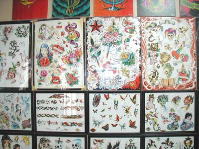 "The museum's attractions include sheets of tattoo ""flash,"" or art. The art"