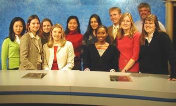 The TV Crew, Spring 2004. / Newsline Photo by Jessica Shyu