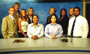 The TV Bureau Crew, Fall 2003.  (Photo by Stephen Mather / Maryland Newsline)